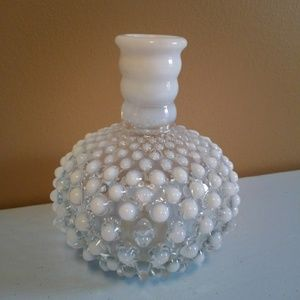 Vintage Accents - Vintage Hobnail Opalescent Bottle / Vase